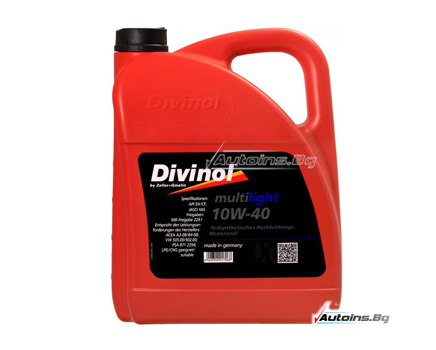 DIVINOL MULTILIGHT 10W40 - 5 литра