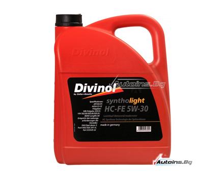DIVINOL SYNTHOLIGHT HC-FE 5W30 - 5 литра